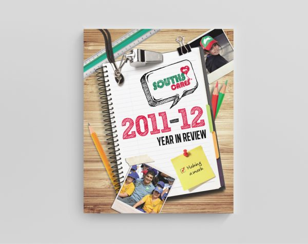 Annual report design for Souths Cares
